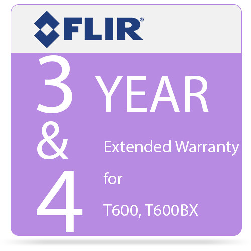 FLIR 3 and 4-Year Extended Warranty for T600 and T600bx IR Cameras