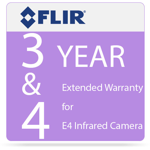 FLIR 3 & 4 Year Extended Warranty for E4 Infrared Camera