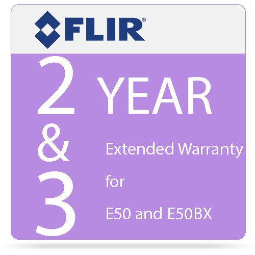 FLIR 2 and 3 Year Extended Warranty for E50 and E50bx Camera