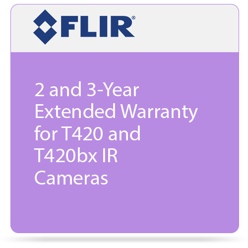 FLIR 2 and 3-Year Extended Warranty for T420 and T420bx IR Cameras