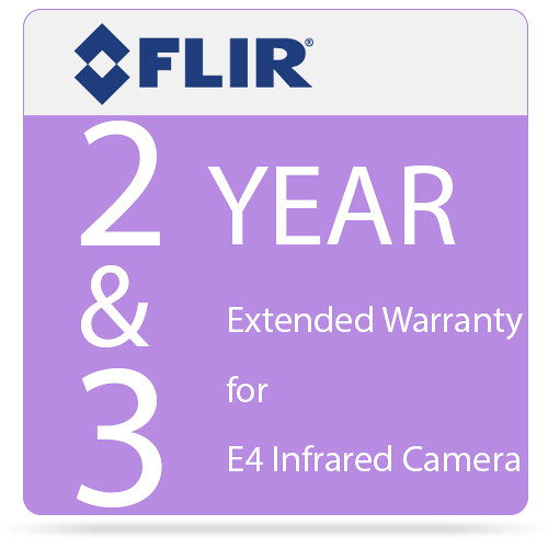 FLIR 2 & 3 Year Extended Warranty for E4 Infrared Camera