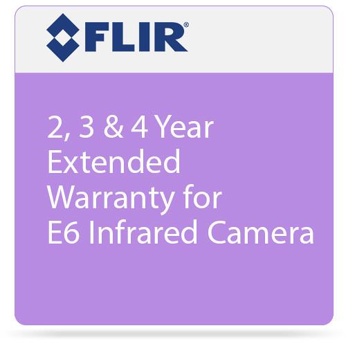 FLIR 2, 3 & 4 Year Extended Warranty for E6 Infrared Camera
