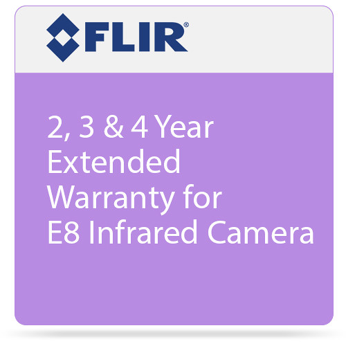 FLIR 2, 3 & 4 Year Extended Warranty for E8 Infrared Camera