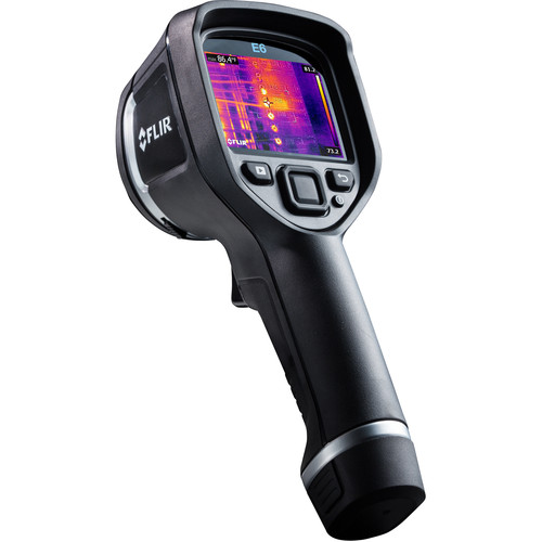 FLIR E6 160 x 120 Thermal Imaging Inspection Camera (9 Hz, Wi-Fi, Matte Black)