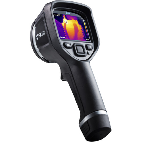 FLIR E8 320x240 Thermal Imaging Inspection Camera (9 Hz, Wi-Fi, Matte Black)