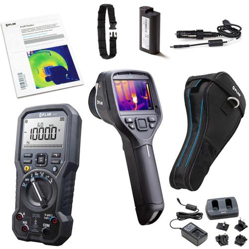 FLIR HVAC Pro Package with E40 Camera ,DM93 Digital Multimeter, VP50 Non-Co
