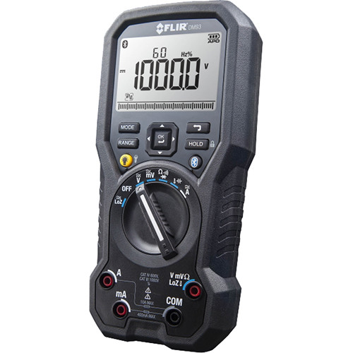 FLIR DM93 True RMS Industrial Multimeter with Bluetooth and METERLiNK Technology