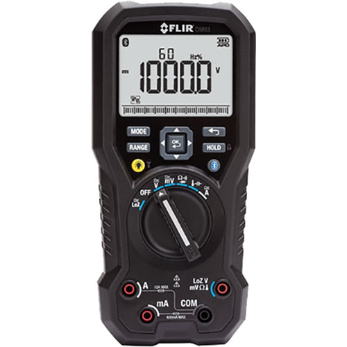 FLIR DM93 True RMS Industrial Multimeter with Bluetooth and METERLiNK Technology (NIST Certified)
