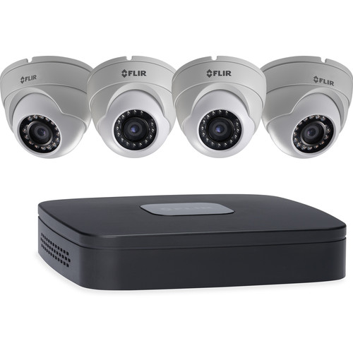FLIR 4-Channel 5MP NVR with 2TB HDD and 4 1080p Outdoor Dome Cameras