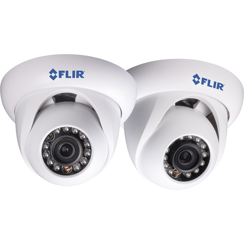 FLIR 2.1MP IR Dome IP Camera with 3.6mm Fixed Lens (2-Pack)