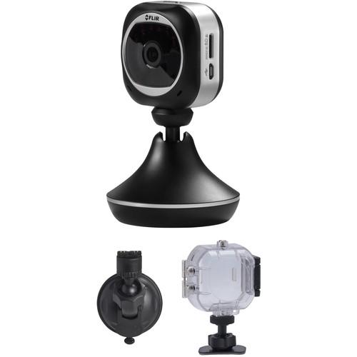 FLIR FX Versatile HD Monitoring Camera with Dash Mount & Sport Housing Kit