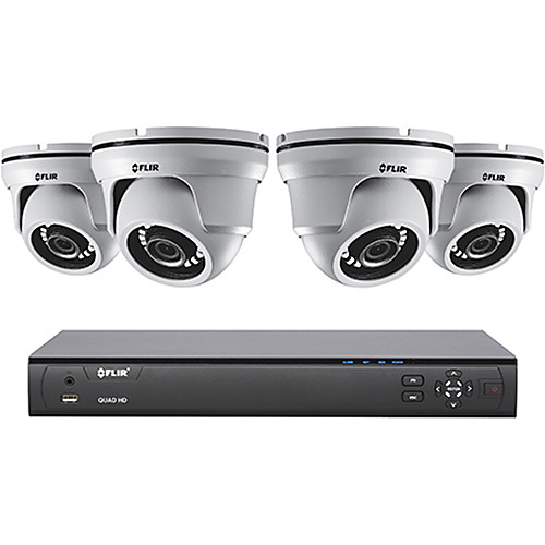 FLIR MPX Series M5104244 4-Channel 4MP DVR with 2TB HDD and 4 4MP Outdoor HD-CVI Dome Cameras