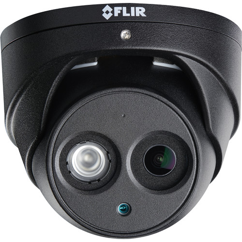 FLIR N253EA8BK 8MP Outdoor Network Dome Camera with Night Vision & Audio (Black)
