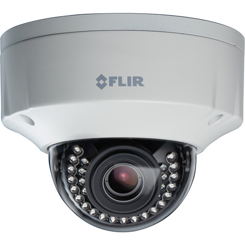 FLIR N437VDL 2.1MP Color Night Vision WDR IP Dome Camera with 4-8mm Motorized DC Auto Iris Lens