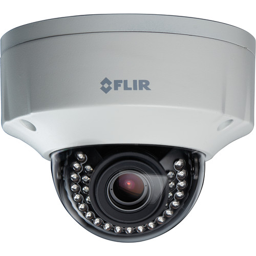 FLIR N437VEW 3MP Color Night Vision WDR IP Dome Camera with 3-9mm Motorized DC Auto Iris Lens