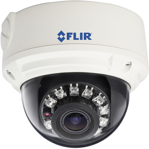 FLIR SyncroIP DNV14UX2 2.1MP HD Varifocal Day/Night IR Vandal-Resistant PoE Network Dome Camera