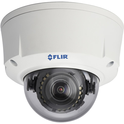 FLIR SyncroIP DNV16M2 2.1MP HD Varifocal Day/Night IR PoE Network Dome Camera with AutoFocus