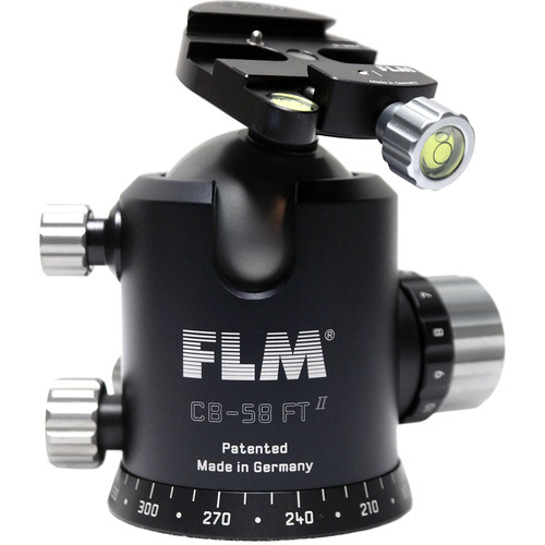 FLM CB-58FTR Professional FT Series Ball Head with SRB-60 QR Clamp
