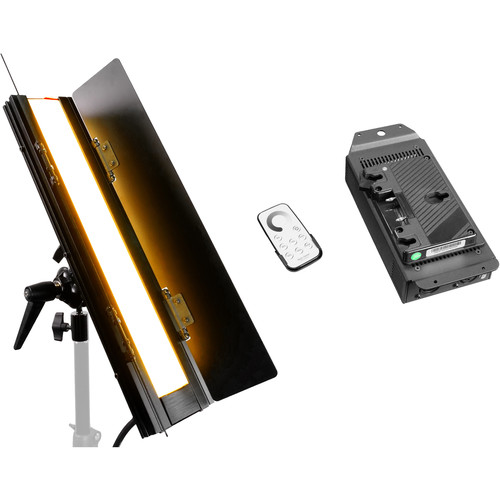 "FloLight BladeLight Tungsten LED Light with Gold Mount Battery Plate (18"")"