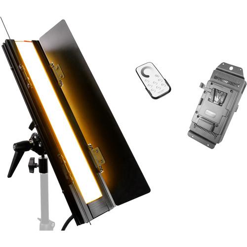 "FloLight BladeLight Tungsten LED Light with V-Mount Battery Plate (18"")"