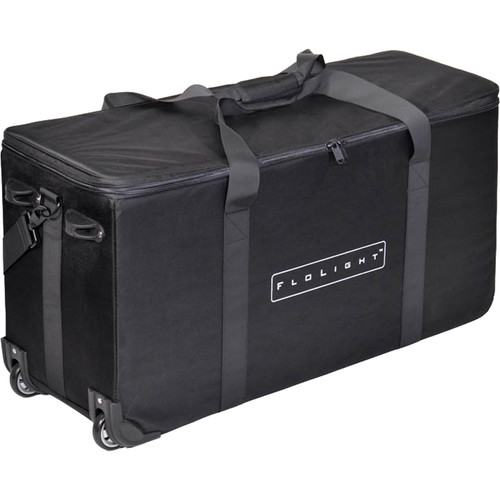 Flolight Rolling, Padded Light Kit Carry Case for 3 FL-110 Fixtures or Others