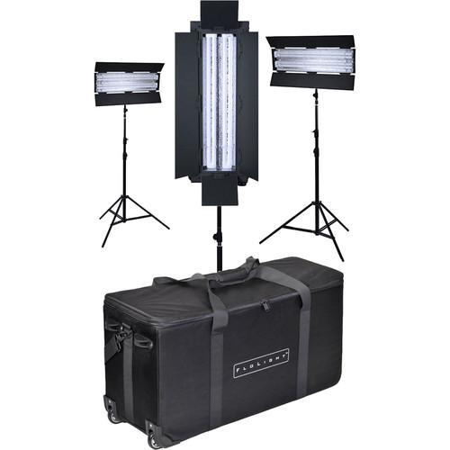 Flolight FL-110AWD 3-Point Fluorescent Lighting Kit