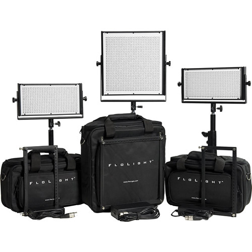 Flolight LEDs Video Lighting Kit with MicroBeam 1024 & Two MicroBeam 512 Daylights