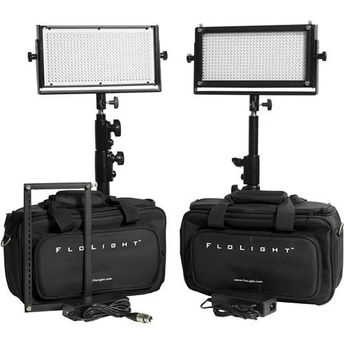 Flolight 2x MicroBeam 512 Daylight LED Video Lighting Kit