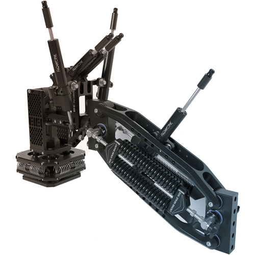FLOWCINE Black Arm Complete Dampening System with 57 - 75 lb Anti-Vibration Mount & Pro Case