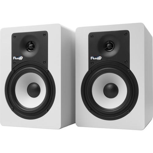 """Fluid Audio Classic Series C5BT Bluetooth 5"""" Studio Monitor (Pair, White)"""