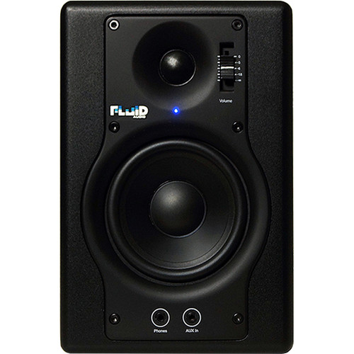 "Fluid Audio F4 - 30W 4"" Two-Way Active Studio Reference Monitors (Pair, Black)"