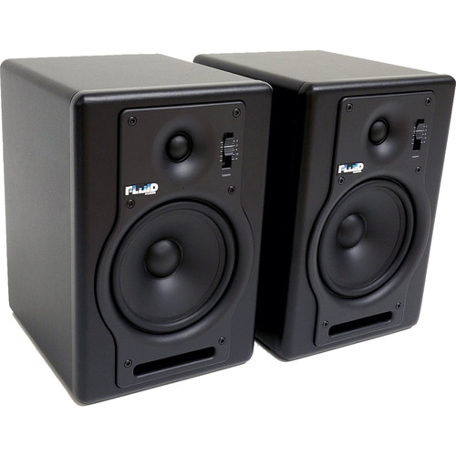 """Fluid Audio F5 - 70W 5"""" Two-Way Active Studio Reference Monitors (Pair, Black)"""