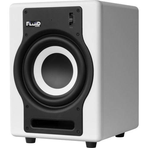 "Fluid Audio F8S - 200W 8"" Active Studio Reference Subwoofer (White)"