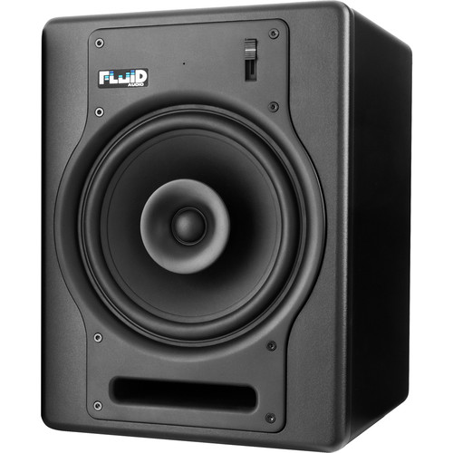 """Fluid Audio FX8 - 130W 8"""" Two-Way Coaxial Active Studio Reference Monitors (Single, Black)"""