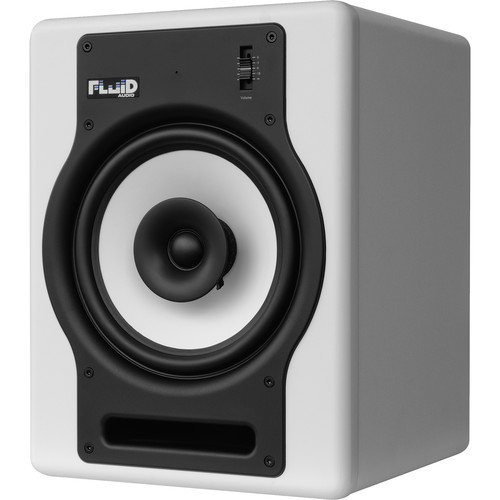 "Fluid Audio FX8 - 130W 8"" Two-Way Coaxial Active Studio Reference Monitors (Single, White)"