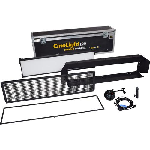 Fluotec Cinelight Production 120 LED SoftLIGHT 1-Light Kit with Flight Case