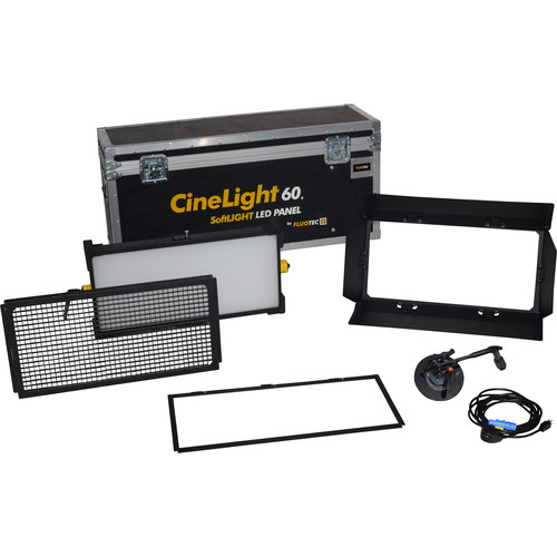 Fluotec CineLight Production 60 LED Panel 1-Light Kit with Stand Mounting Bracket