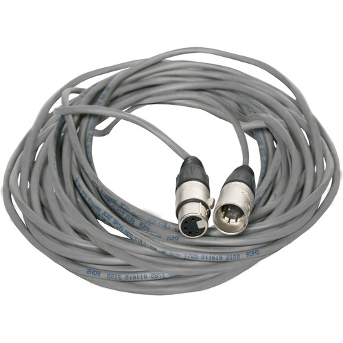 Fluotec DMX 5-Pin XLR Male to 5-Pin XLR Female Extension Cable (30')