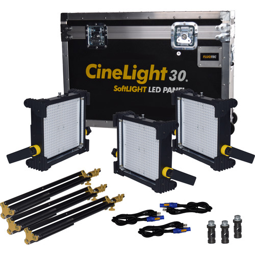 Fluotec CineLight Studio 30 Gold Mount Long Throw 3-Light Kit