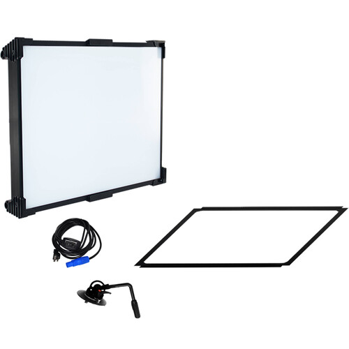 Fluotec Cinelight Production 120 Quad Fixed Diff 266W Led Panel Kit With Stand Mount/ Case