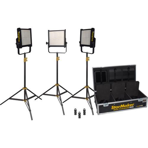 Fluotec StarMaker IP65 Tunable V-Mount 3-Light Kit