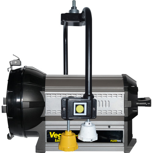 Fluotec Vegalux 200 HP Tungsten 7 Studioled Fresnel 197W. 60 More Illuminance, With Pole Operated Yoke