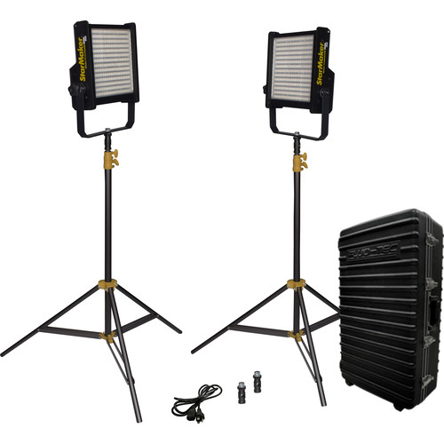 Fluotec StarMaker HP Weatherproof LED Bi-Color LED Panel Pack 2 (Gold Mount)