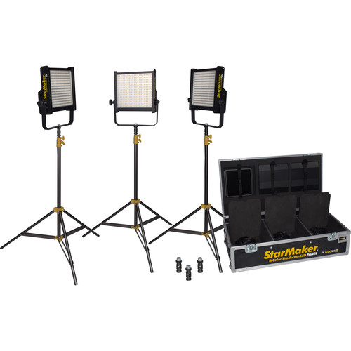 Fluotec StarMaker HP Weatherproof LED Bi-Color LED Panel Pack 3 (Gold Mount)