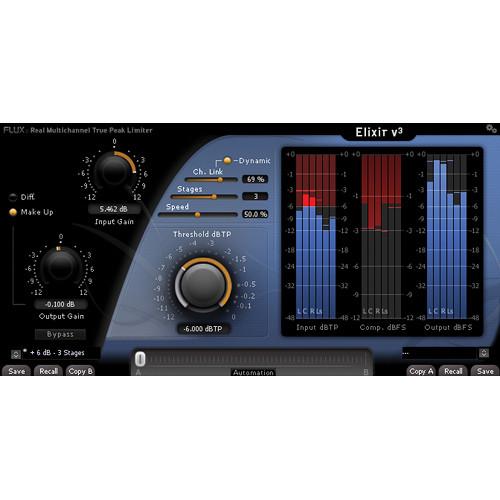 FLUX Elixir V3 Multichannel Limiter Native AU/VST/AAX Plug-In