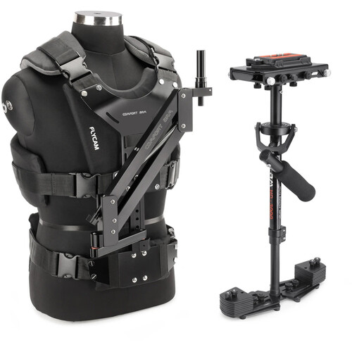 FLYCAM HD-3000 Stabilizer with Sliding QR Platform, Table Clamp, and Comfort Arm & Vest