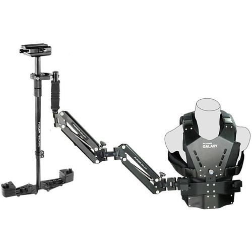FLYCAM Galaxy Dual-Arm and Vest with Redking Video Camera Stabilizer