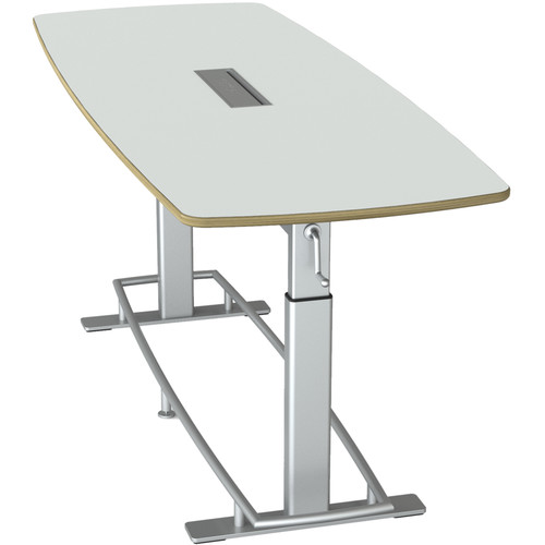 Focal Upright Furniture Confluence 8 Standing-Height Conference Table (Large, Glacier White Top)