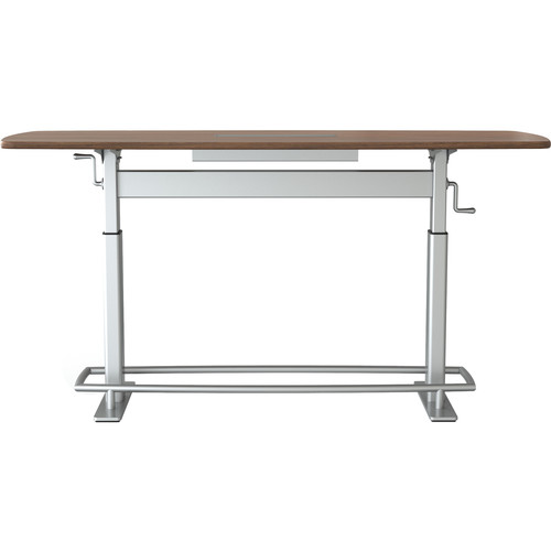 Focal Upright Furniture Confluence 6 Standing Height Conference Table (Small, Black Walnut Top)