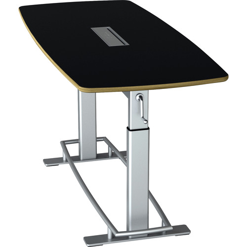 Focal Upright Furniture Confluence Table 6 (Matte Black/ Laminate)